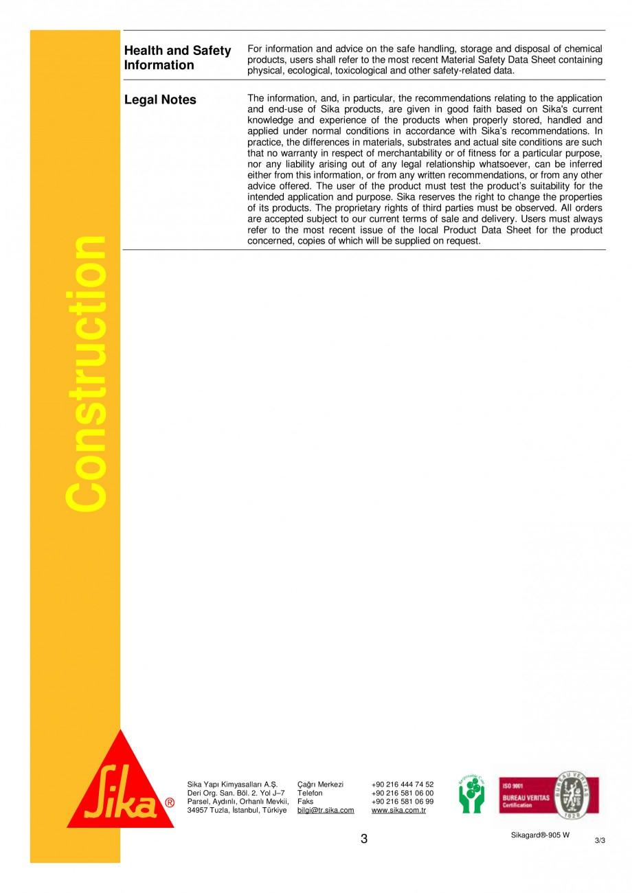 Pagina 3 - Tratament pentru pardoseli interioare si exterioare SIKA Sikagard®-905W Fisa tehnica ...