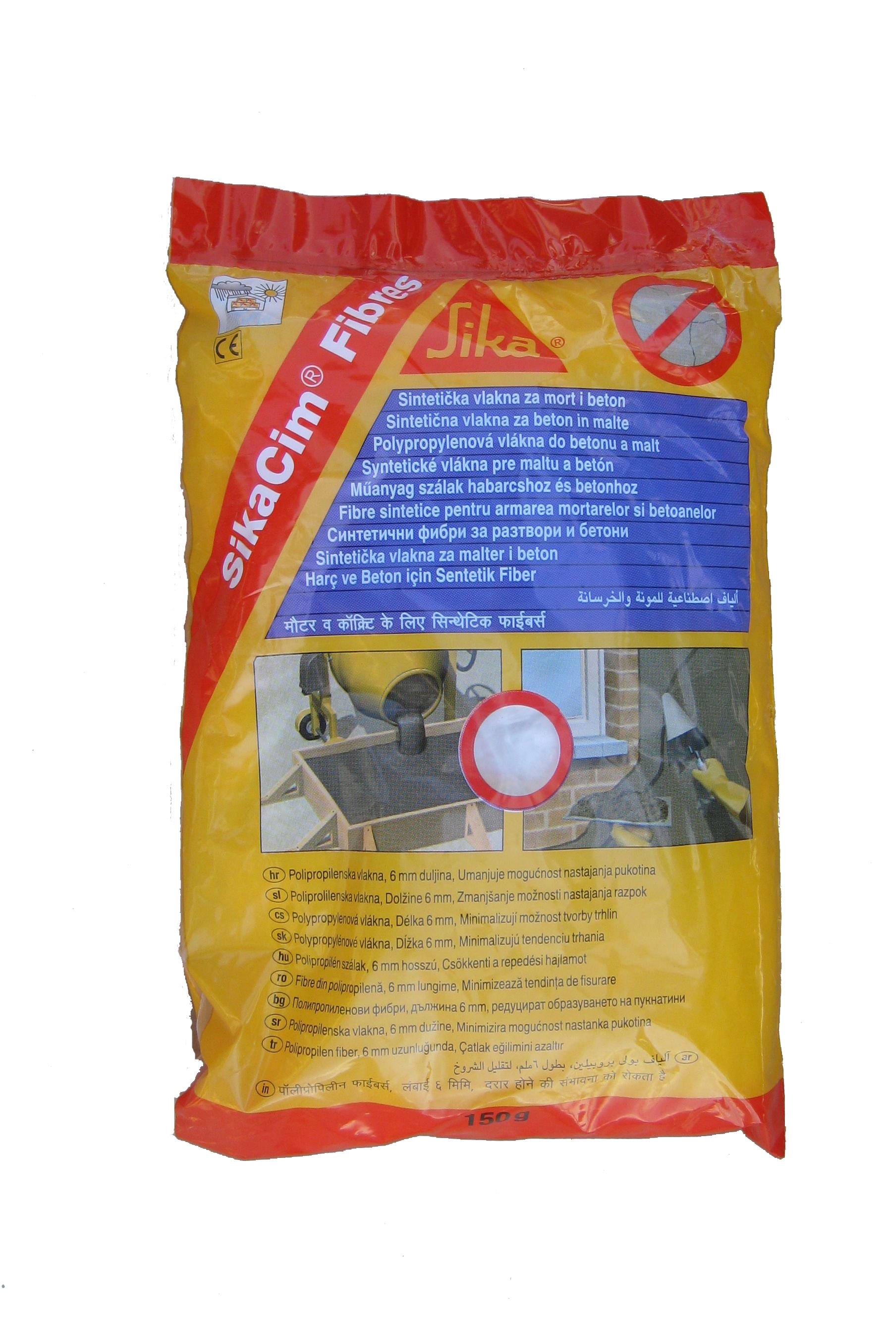Fibre din polipropilena pentru armarea mortarelor si betonului SIKA - Poza 1