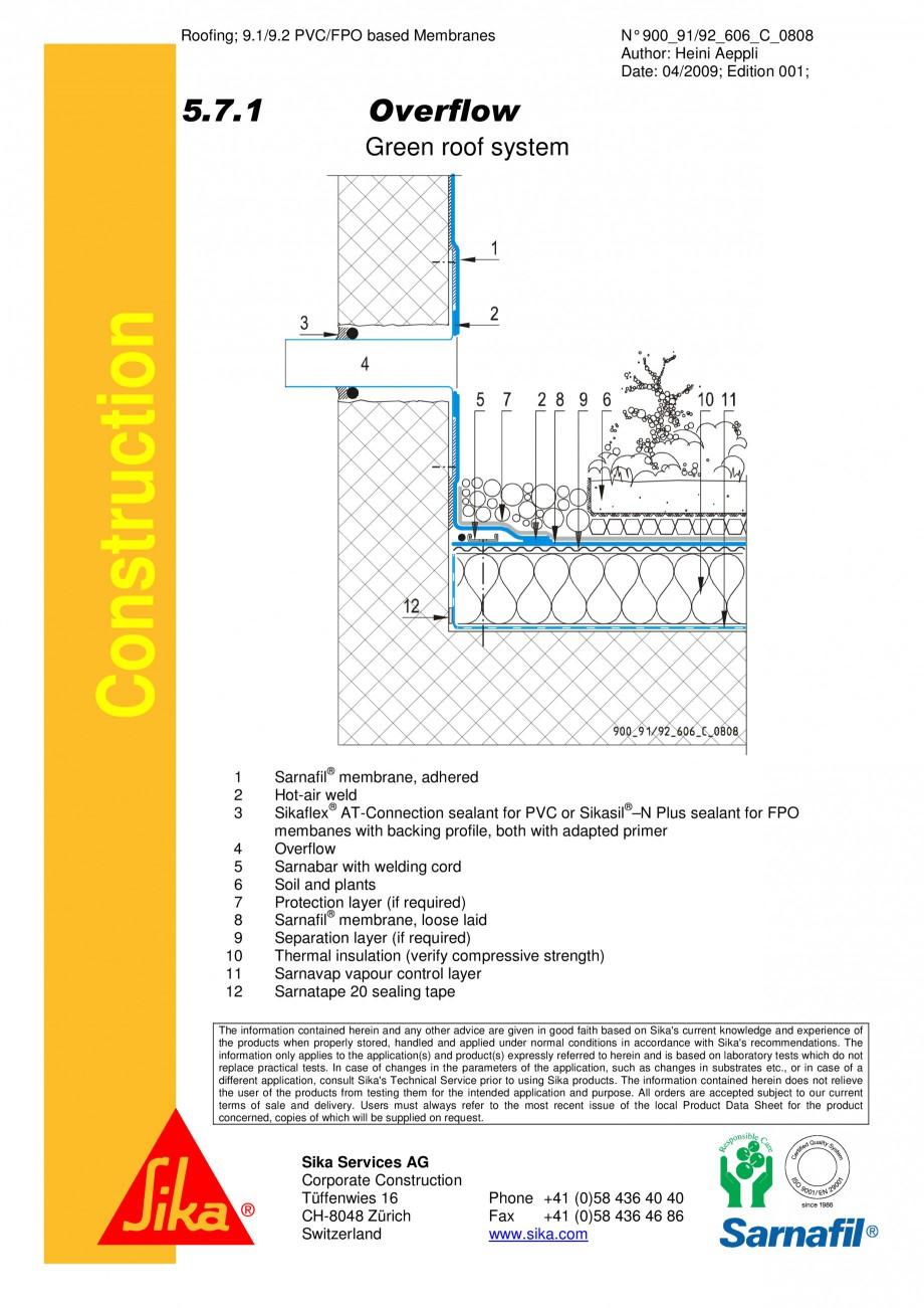 Pagina 1 - CAD-PDF Hidroizolatii acoperisuri verzi-detaliu de evacuare apa, preaplin 2 SIKA Detaliu ...