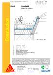 Hidroizolatii acoperisuri verzi-detaliu de racord la luminator SIKA