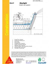 Hidroizolatii acoperisuri verzi-detaliu de racord la luminator