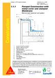 Hidroizolatii cu prindere mecanica pentru terase necirculabile-detaliu de atic SIKA