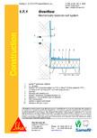 Hidroizolatii cu prindere mecanica pentru terase necirculabile-detaliu de evacuare apa, preaplin SIKA