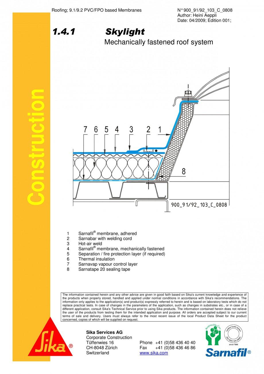 Pagina 1 - CAD-PDF Hidroizolatii cu prindere mecanica pentru terase necirculabile-detaliu de racord ...