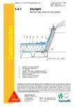 Hidroizolatii cu prindere mecanica pentru terase necirculabile-detaliu de racord la luminator SIKA