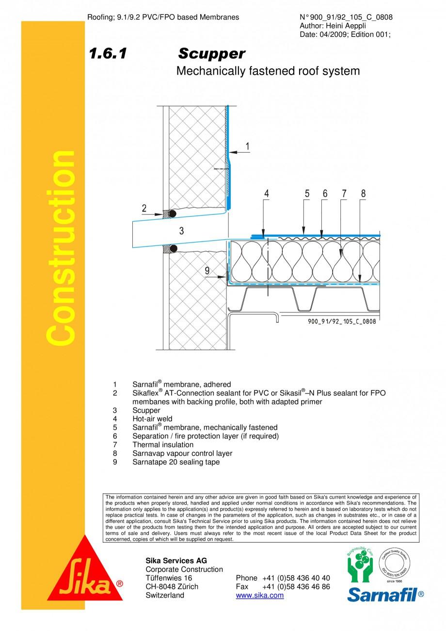 Pagina 1 - CAD-PDF Hidroizolatii cu prindere mecanica pentru terase necirculabile-detaliu de...