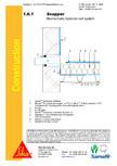 Hidroizolatii cu prindere mecanica pentru terase necirculabile-detaliu de scurgere laterala (gargui) SIKA
