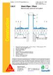 Hidroizolatii cu prindere mecanica pentru terase necirculabile-detaliu de ventilatie SIKA