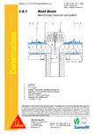 Hidroizolatii cu prindere mecanica pentru terase necirculabile-detaliu gura de scurgere SIKA
