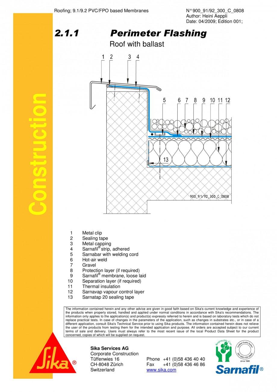 Pagina 1 - CAD-PDF Terasa recirculabila cu pietris-detaliu de atic SIKA Detaliu de montaj...
