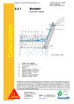 Terasa recirculabila cu pietris-detaliu de etansare SIKA