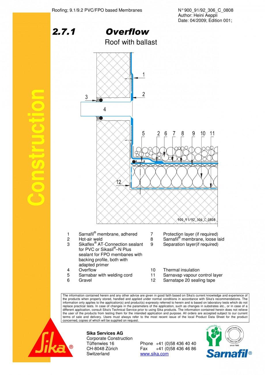 Pagina 1 - CAD-PDF Terasa recirculabila cu pietris-detaliu de evacuare apa, preaplin SIKA Detaliu de...