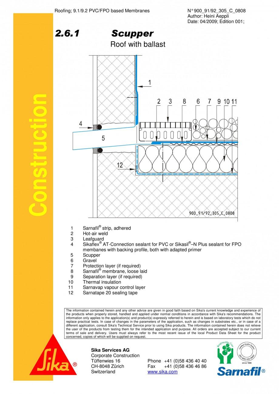 Pagina 1 - CAD-PDF Terasa recirculabila cu pietris-detaliu de scurgere laterala SIKA Detaliu de...