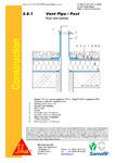 Terasa recirculabila cu pietris-detaliu de ventilare / Membrane polimerice pentru acoperisuri / SIKA Romania