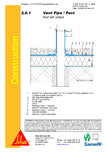 Terasa recirculabila cu pietris-detaliu de ventilare SIKA