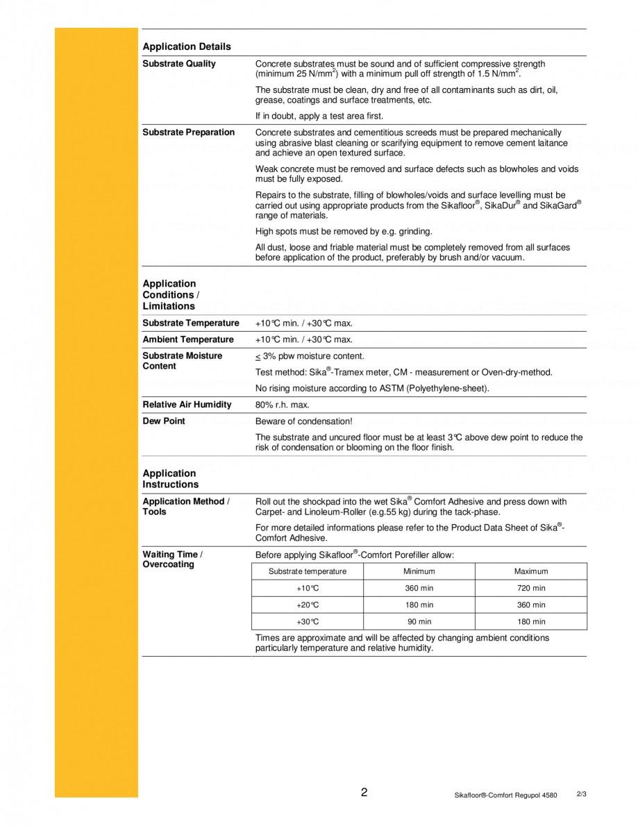 Pagina 2 - Covor din spuma PU si cauciuc reciclabil SIKA Sikafloor®-Comfort Regupol 4580,...