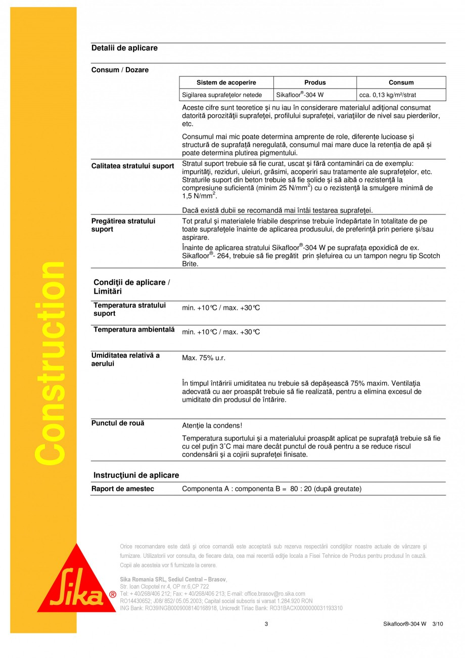 Pagina 3 - Strat sigilant poliuretanic SIKA Sika®-ComfortFloor® Decorative Pro,...