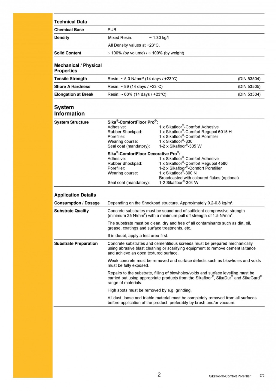 Pagina 2 - Produs poliuretanic pentru sigilare si nivelare SIKA Sika®-ComfortFloor® Pro,...