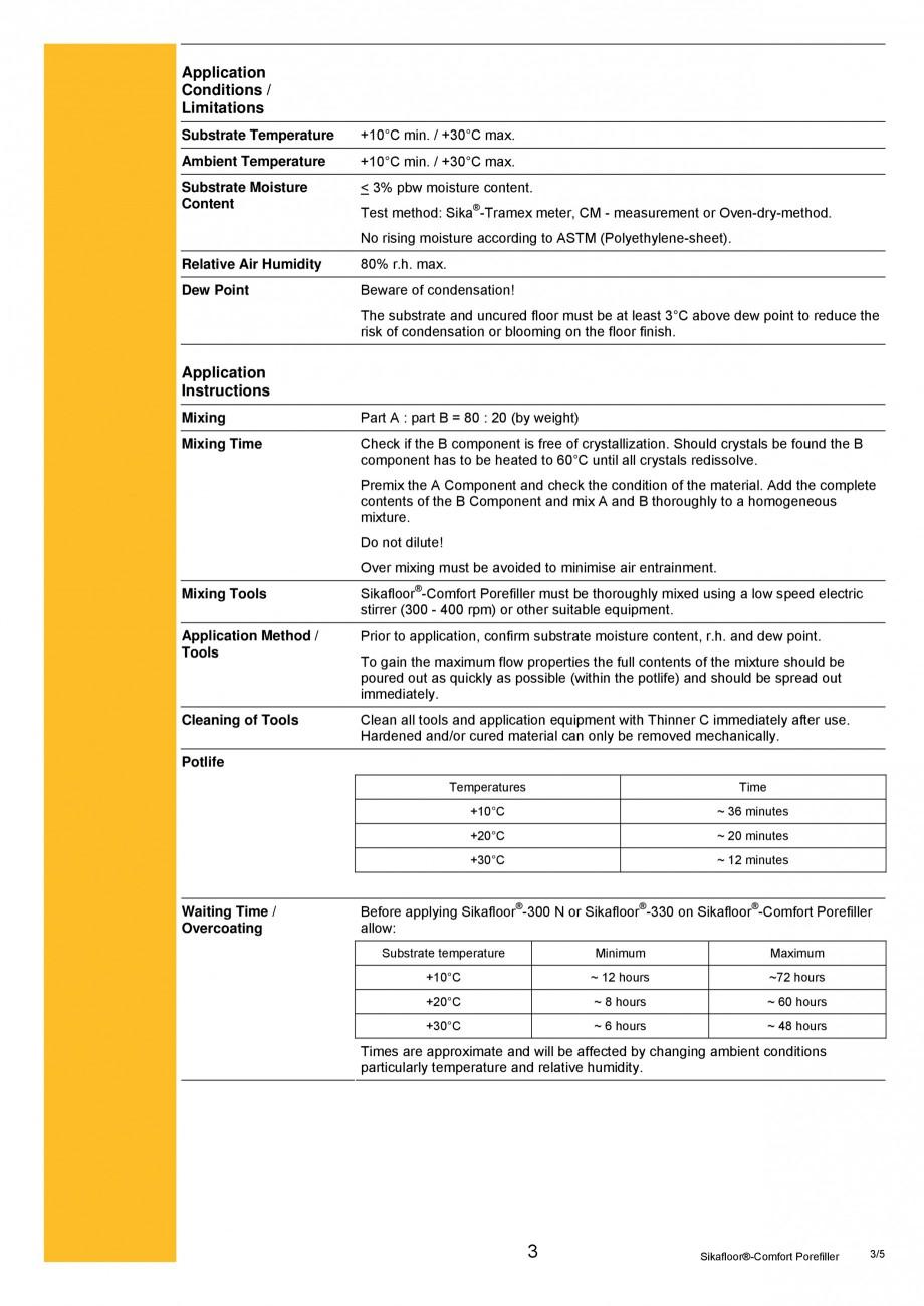 Pagina 3 - Produs poliuretanic pentru sigilare si nivelare SIKA Sika®-ComfortFloor® Pro,...