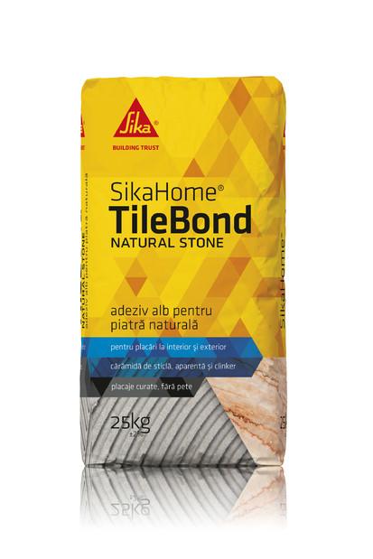 Adeziv pentru piatra naturala -  SIKAHOME® TILEBOND NATURAL STONE Adezivi pentru finisarea si amenajarea casei
