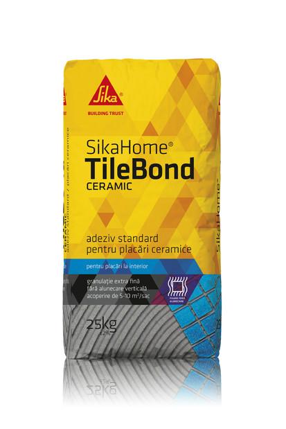 Adeziv pentru placari ceramice  la interior - SIKAHOME® TILEBOND CERAMIC Adezivi pentru finisarea si amenajarea casei