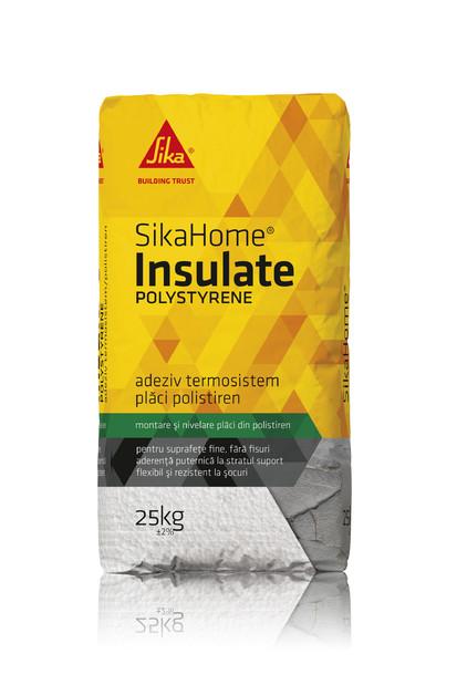 Adeziv pentru termosistem polistiren - SIKAHOME® INSULATE POLYSTYRENE Adezivi pentru finisarea si amenajarea casei