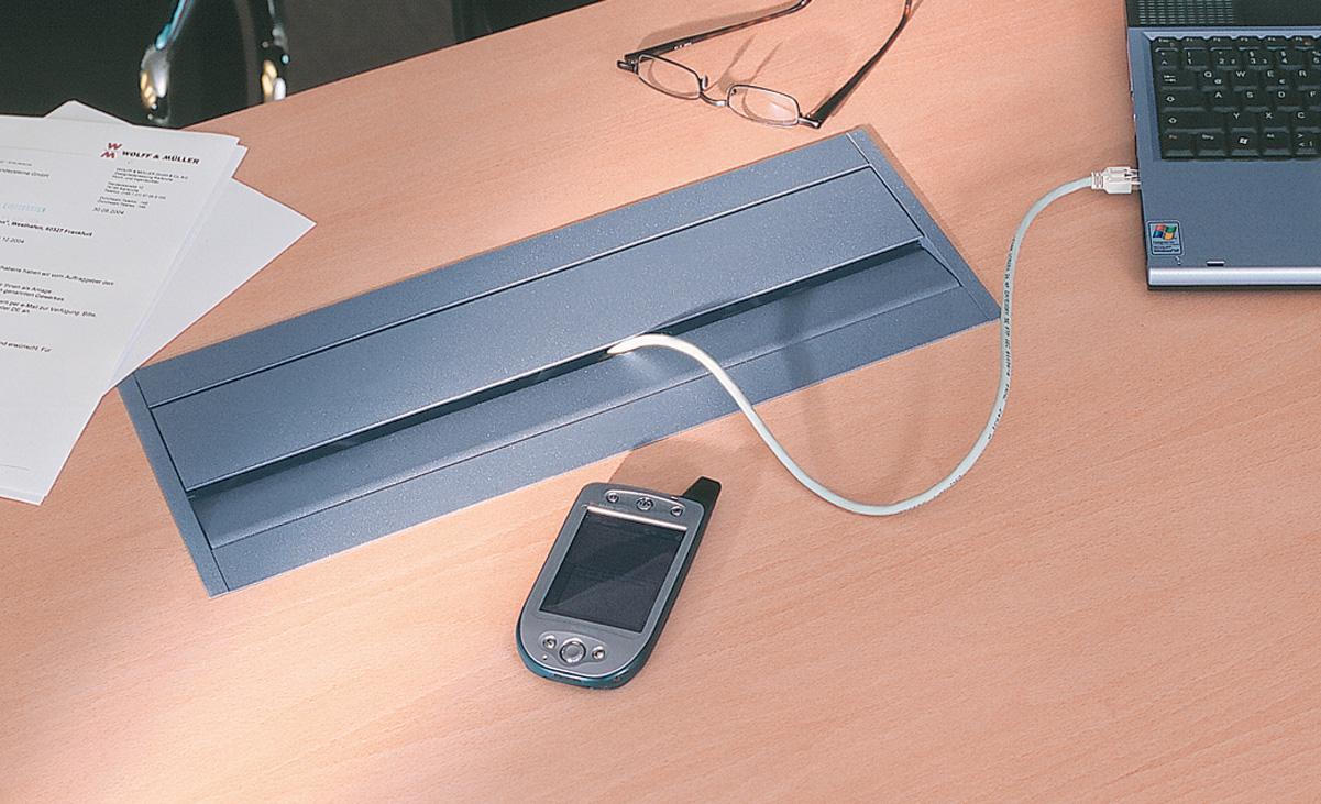 Sistem de management al cablurilor pentru birou BACHMANN - Poza 2