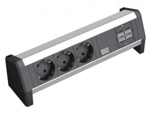 Prezentare produs Sistem de management al cablurilor pentru birou BACHMANN - Poza 7