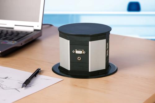 Prezentare produs Sistem de management al cablurilor pentru birou BACHMANN - Poza 2