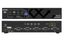 Solutii complete de control si gestionare audio-video Media Switch - permite comutarea semnalului audio si video de la mai multi utilizatori catre diferite echipamente media precum videoproiector, monitor, etc.