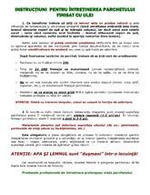 Instructiuni pentru intretinerea parchetului finisat cu ulei STILE ITALIA