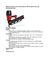 Masina de batut cuie in benzi pana la 130 mm pentru fixari pe structura de lemn ALSAFIX