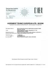 Agrement tehnic european pentru ancora chimica tip mortar de injectie pentru ancorare in beton ALSAFIX