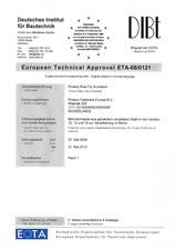 Agrement ETA - Diblu BT ALSAFIX