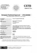Agrement ETA - Diblu metalic de ancorare ALSAFIX