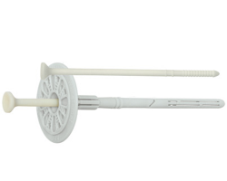 Dibluri pentru beton, metal si conexpanduri pentru beton Diblu expandabil pentru izolatie rigida - expandare scurta:se poate utiliza cu rondela KWL pentru vata minerala;diblu pentru izolatie rigida cu cui de plastic.material: Nylon;diametru de gaurire: 10 mm;dimensiuni disponibile: lungimi cuprinse intre 70-260 mm.Diblu izolatie FP pentru polistiren - expandare lunga: diblu izolatie ideal pentru fixarea polistirenului si a poliesterului expandabil;diblu izolatie cu expandare dubla;material: Nylon;diblu izolatie cu expandare lunga.