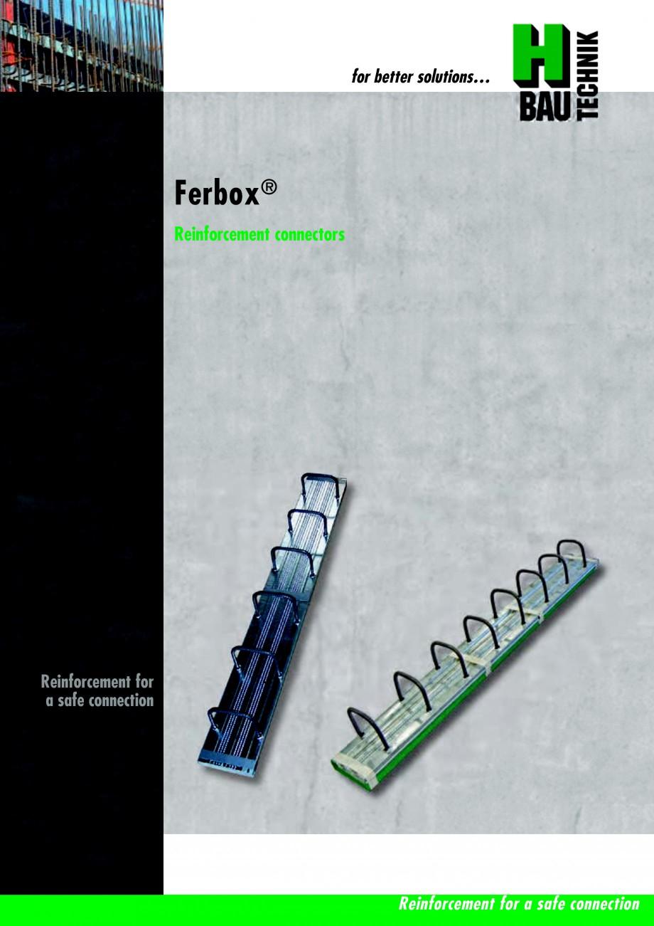 fisa tehnica sistem pentru innadire armaturi ferbox h bau technik tehnica de armare jordahl. Black Bedroom Furniture Sets. Home Design Ideas