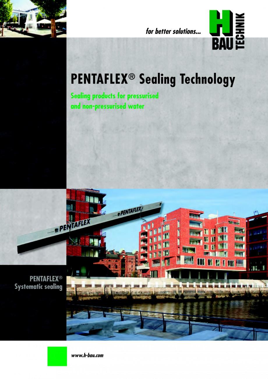 Pagina 1 - Hidroizolatie pentru rosturi de turnare H-BAU Technik PENTAFLEX Catalog, brosura Engleza ...