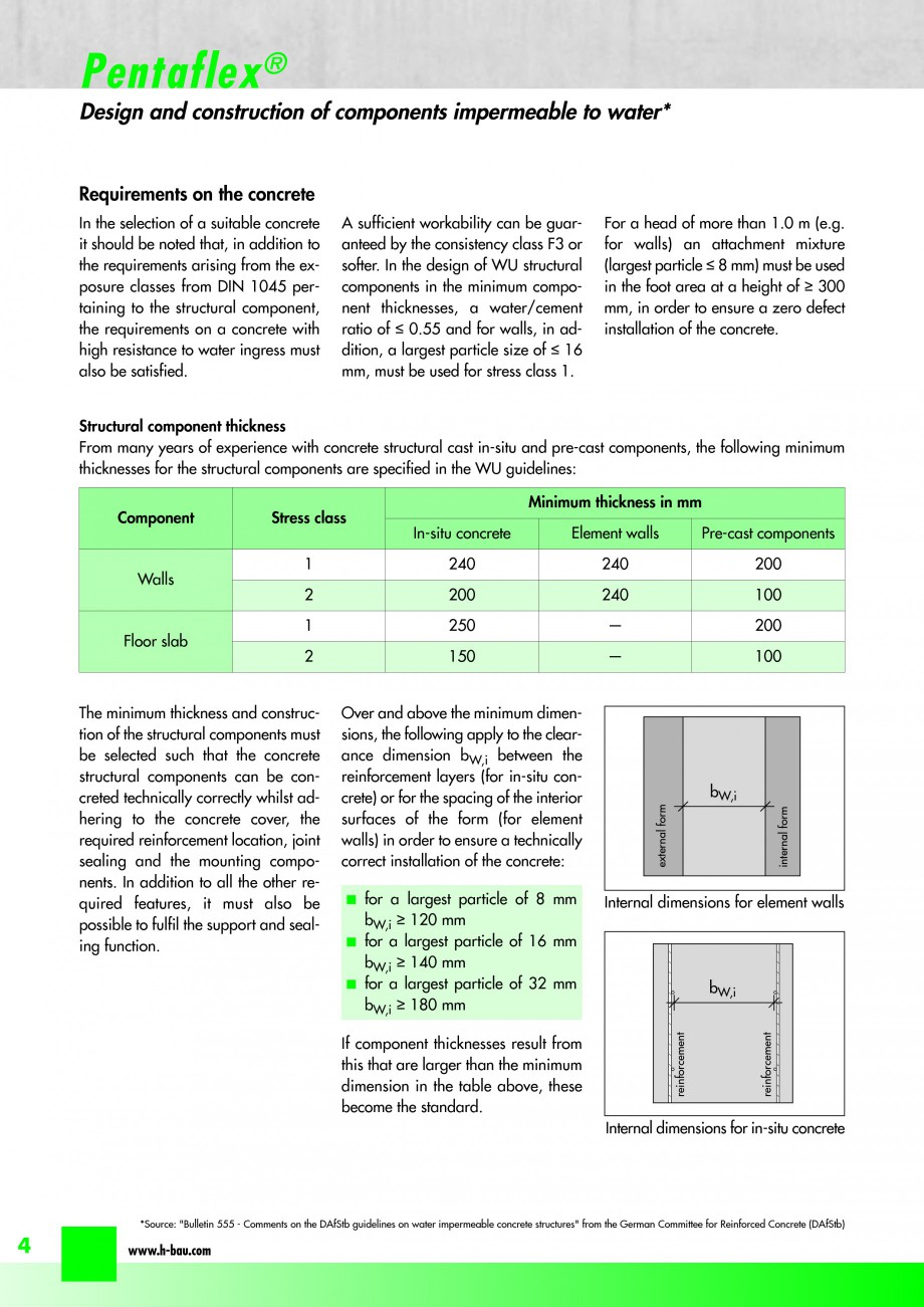 Pagina 6 - Hidroizolatie pentru rosturi de turnare H-BAU Technik PENTAFLEX Catalog, brosura Engleza ...