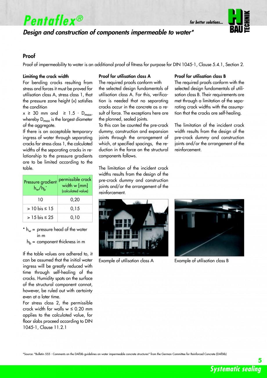 Pagina 7 - Hidroizolatie pentru rosturi de turnare H-BAU Technik PENTAFLEX Catalog, brosura Engleza ...