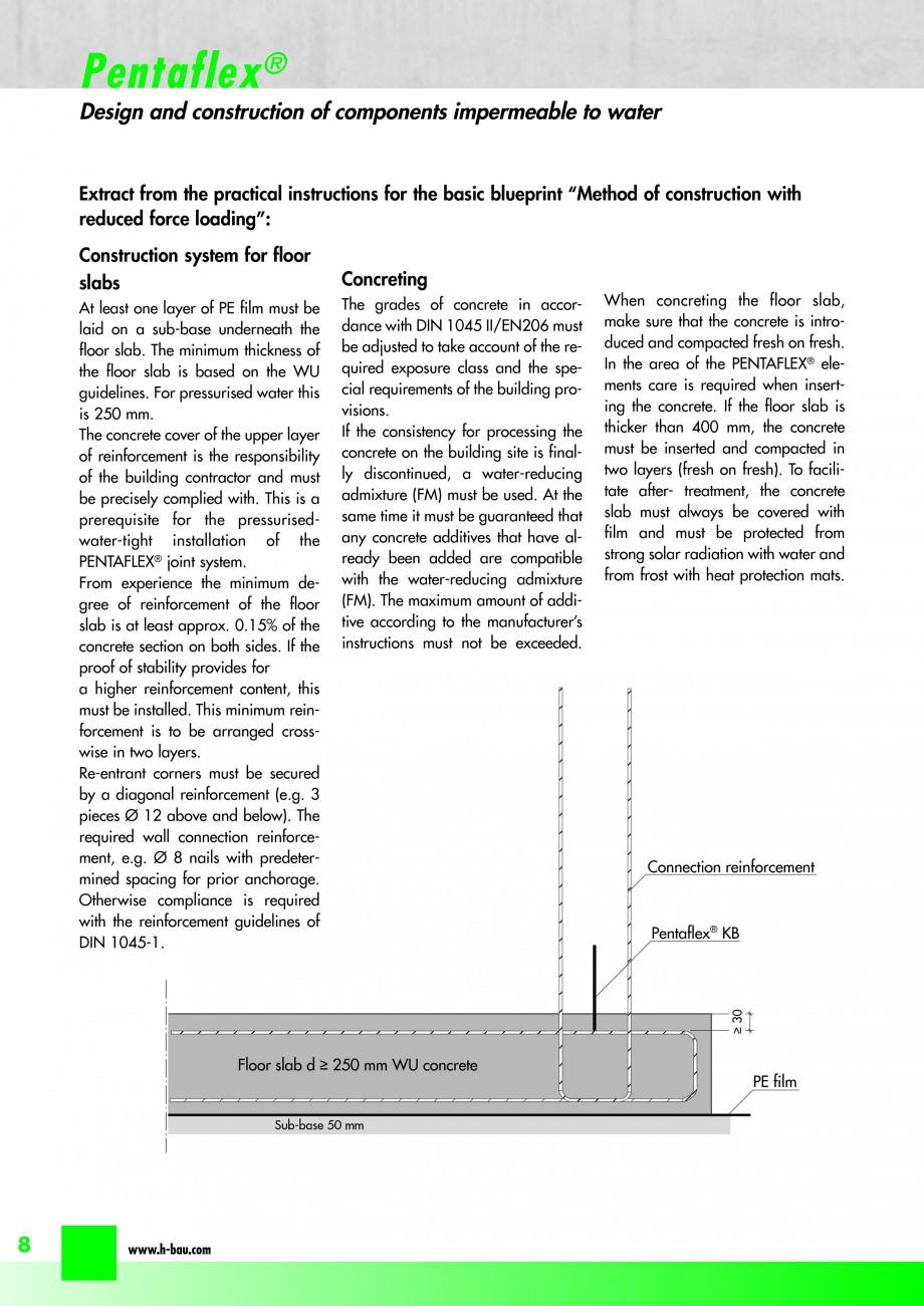 Pagina 10 - Hidroizolatie pentru rosturi de turnare H-BAU Technik PENTAFLEX Catalog, brosura Engleza...