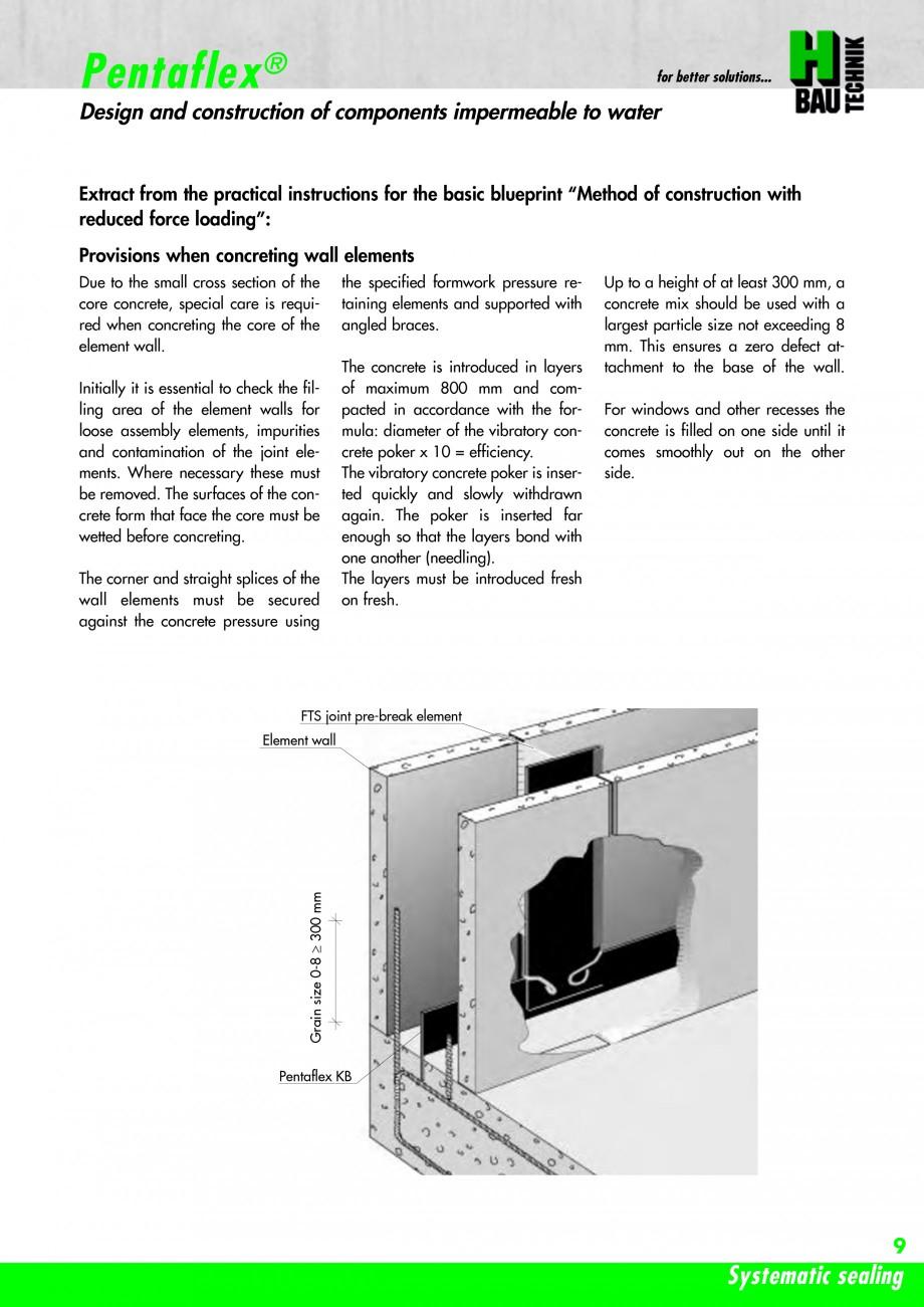 Pagina 11 - Hidroizolatie pentru rosturi de turnare H-BAU Technik PENTAFLEX Catalog, brosura Engleza...