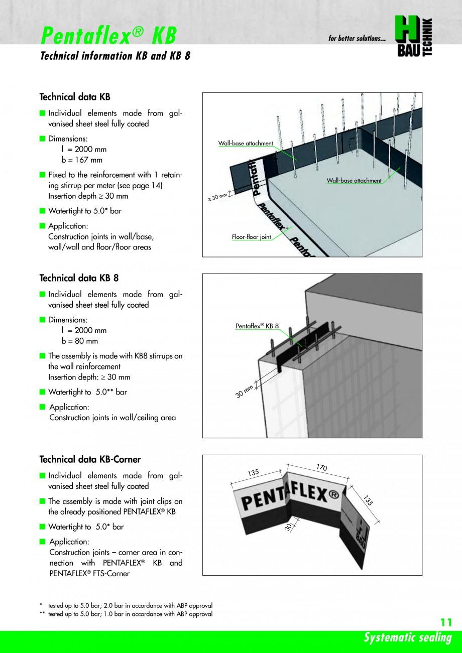 Pagina 13 - Hidroizolatie pentru rosturi de turnare H-BAU Technik PENTAFLEX Catalog, brosura Engleza...