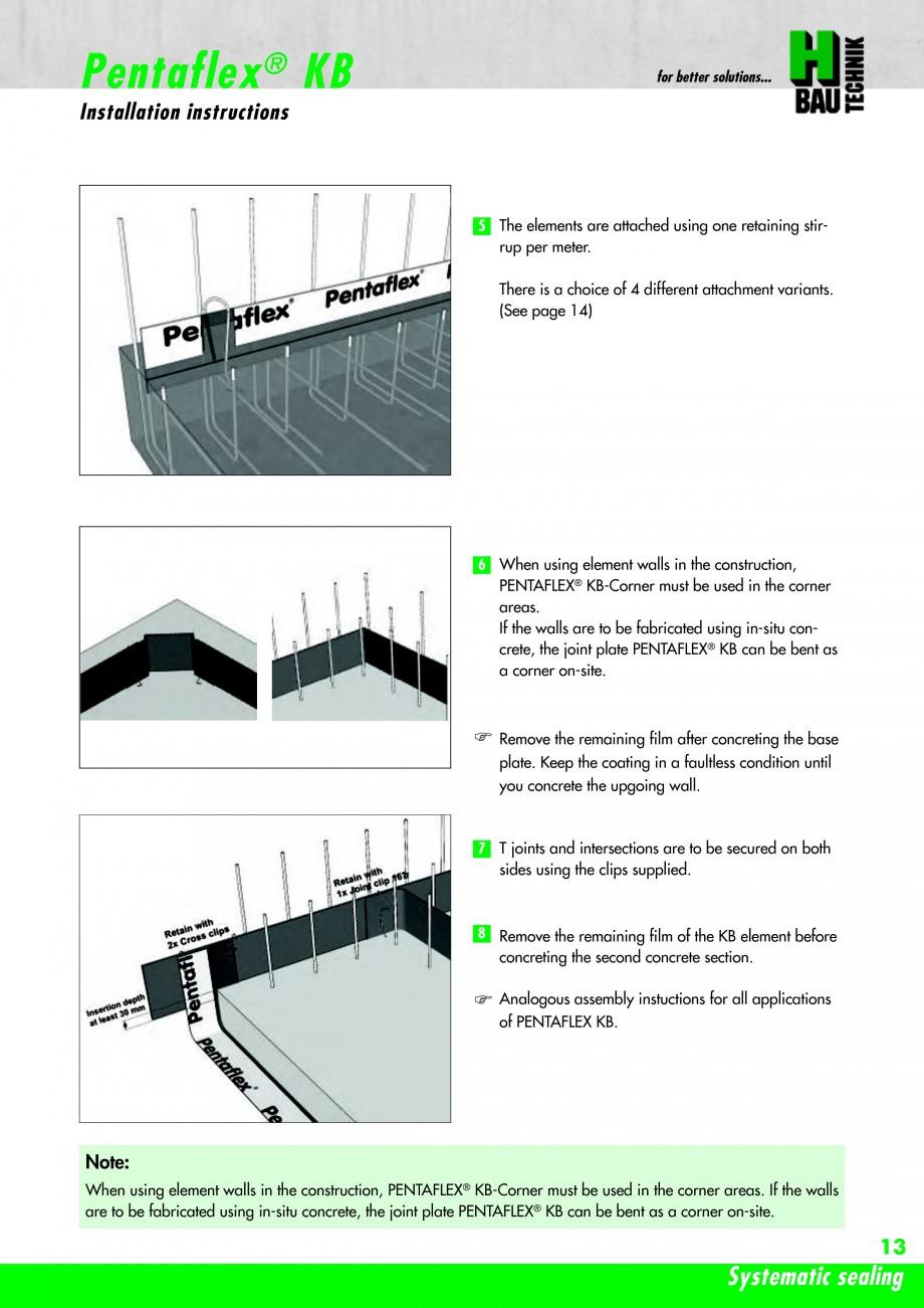 Pagina 15 - Hidroizolatie pentru rosturi de turnare H-BAU Technik PENTAFLEX Catalog, brosura Engleza...