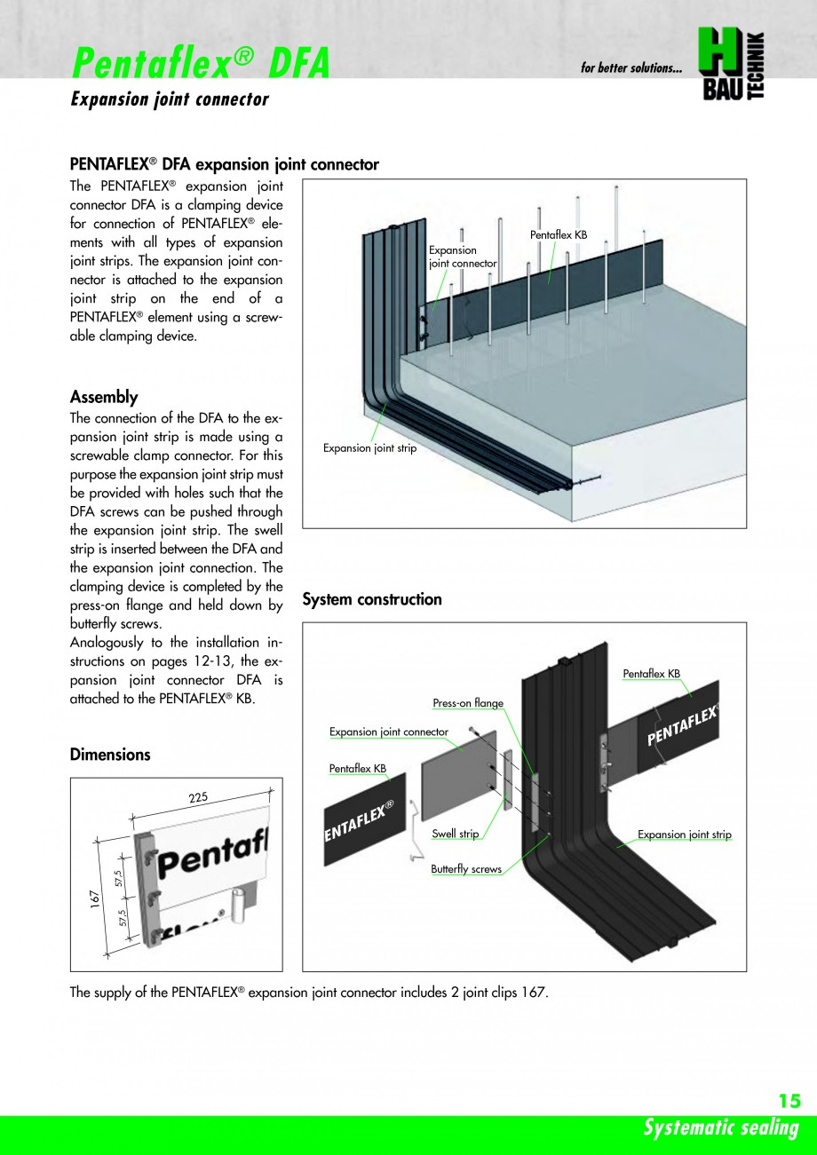 Pagina 17 - Hidroizolatie pentru rosturi de turnare H-BAU Technik PENTAFLEX Catalog, brosura Engleza...