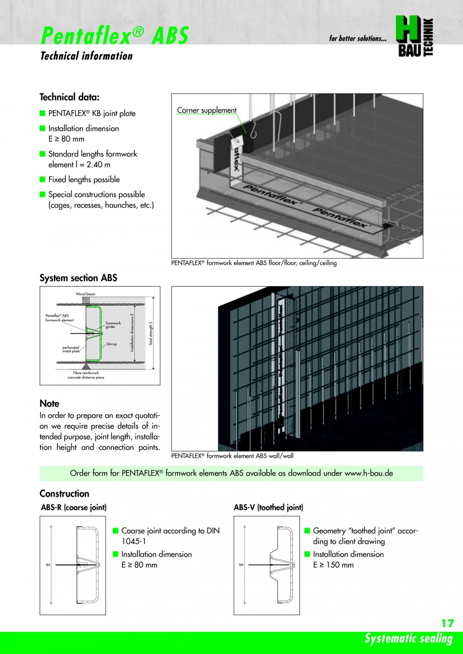 Pagina 19 - Hidroizolatie pentru rosturi de turnare H-BAU Technik PENTAFLEX Catalog, brosura Engleza...