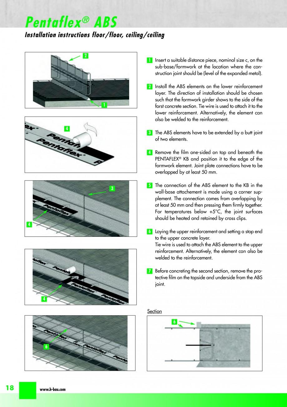 Pagina 20 - Hidroizolatie pentru rosturi de turnare H-BAU Technik PENTAFLEX Catalog, brosura Engleza...