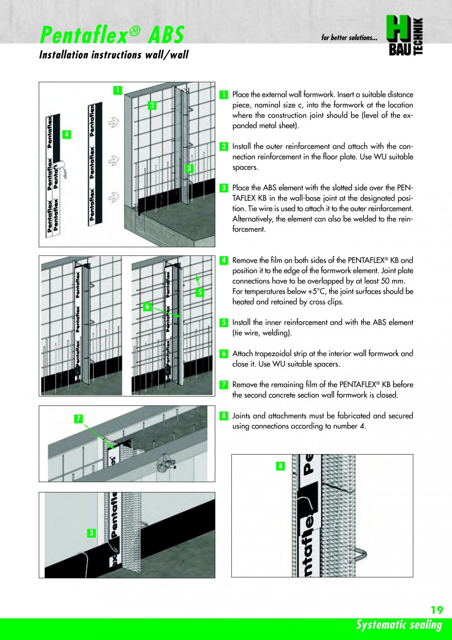 Pagina 21 - Hidroizolatie pentru rosturi de turnare H-BAU Technik PENTAFLEX Catalog, brosura Engleza...