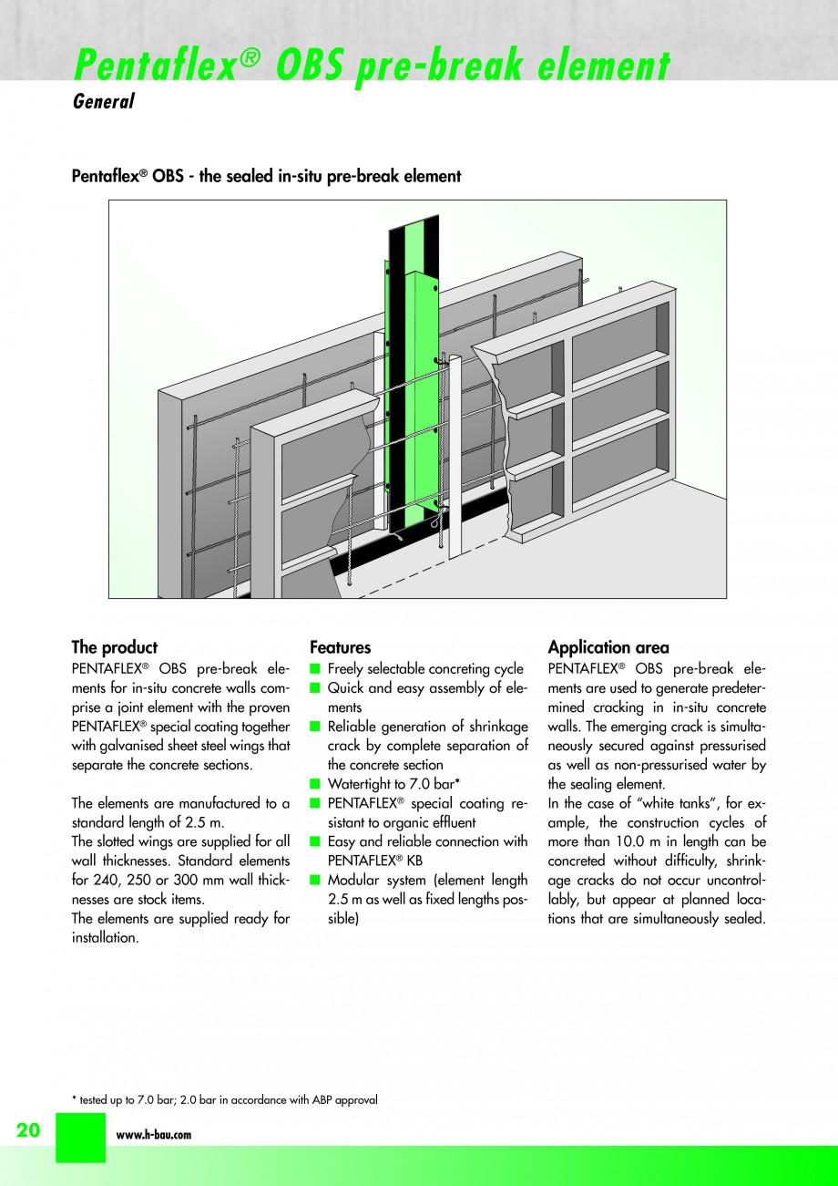 Pagina 22 - Hidroizolatie pentru rosturi de turnare H-BAU Technik PENTAFLEX Catalog, brosura Engleza...