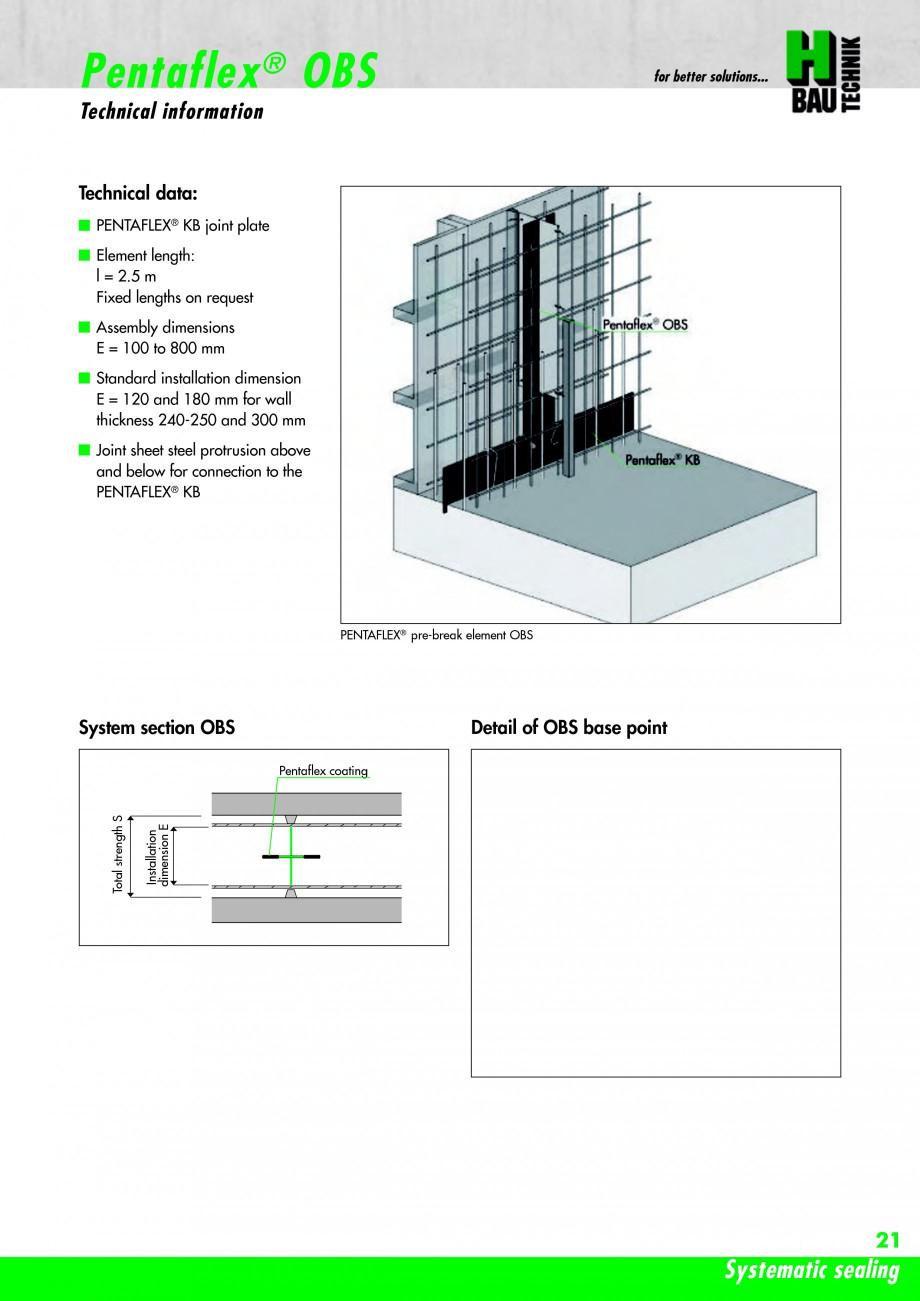 Pagina 23 - Hidroizolatie pentru rosturi de turnare H-BAU Technik PENTAFLEX Catalog, brosura Engleza...